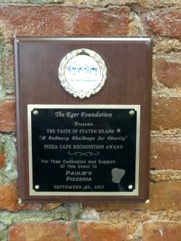 Paulie's Award