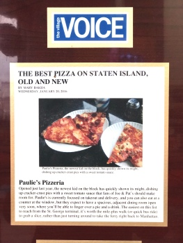 Paulie's Pizzeria Village Voice