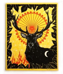 OH deer print - Parlor Trick - Keri Sheheen