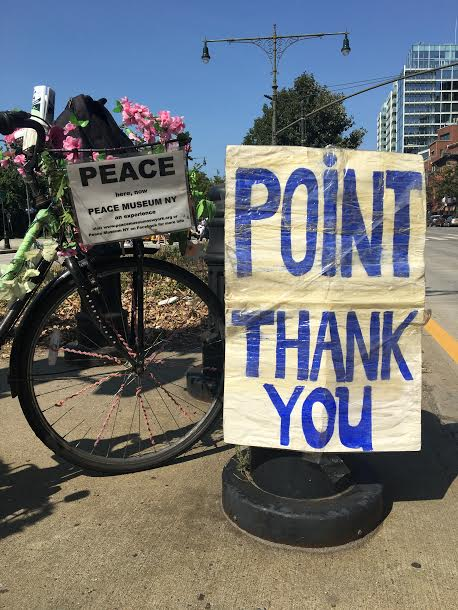 Peace Museum NY PMNY Peace Bike & Point Thank You