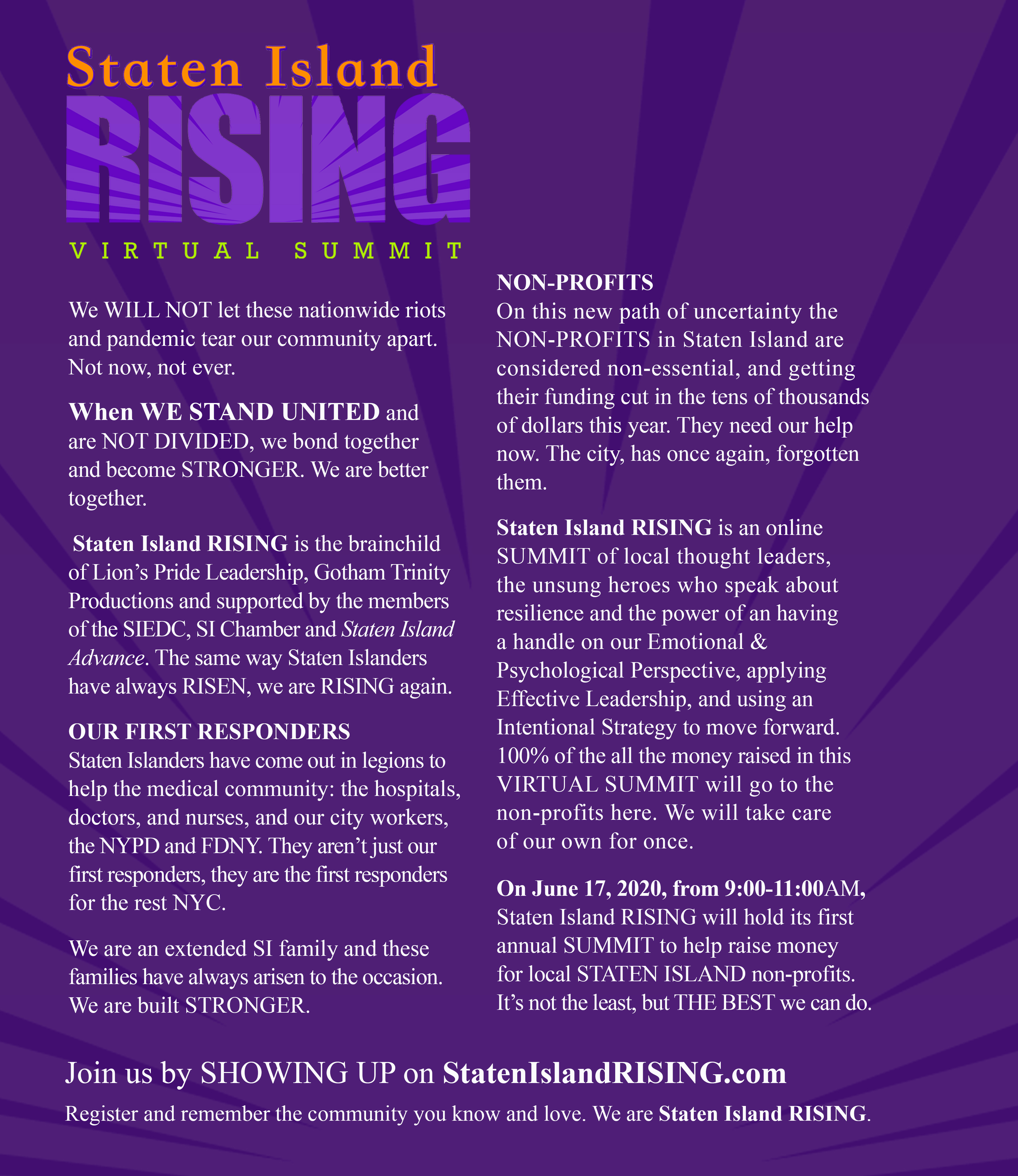 Staten Island Rising - Breuk Iversen (writer)